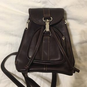 Leather Ranch Mini Backpack - Dark Brown